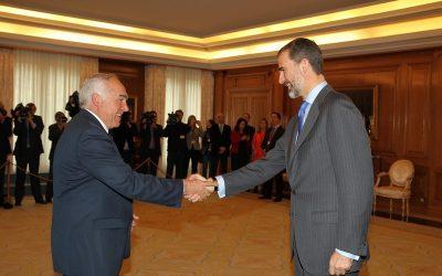 Felipe VI ha recibido en audiencia al alcalde Pedro Acedo