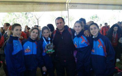 El club de atletismo Emérita se proclama subcampeón de Extremadura de Campo a través  en categoría Infantil Femenino