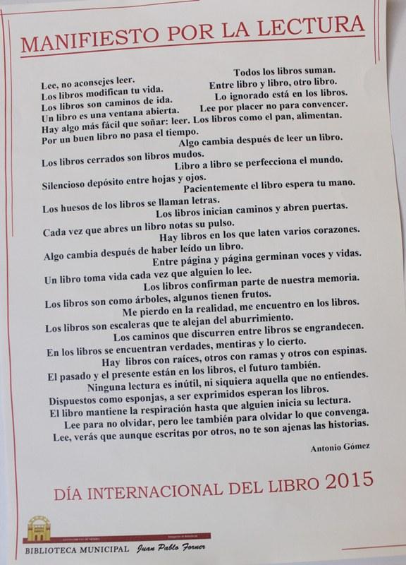 La Biblioteca Municipal rinde homenaje a «El Quijote» en el Día del libro