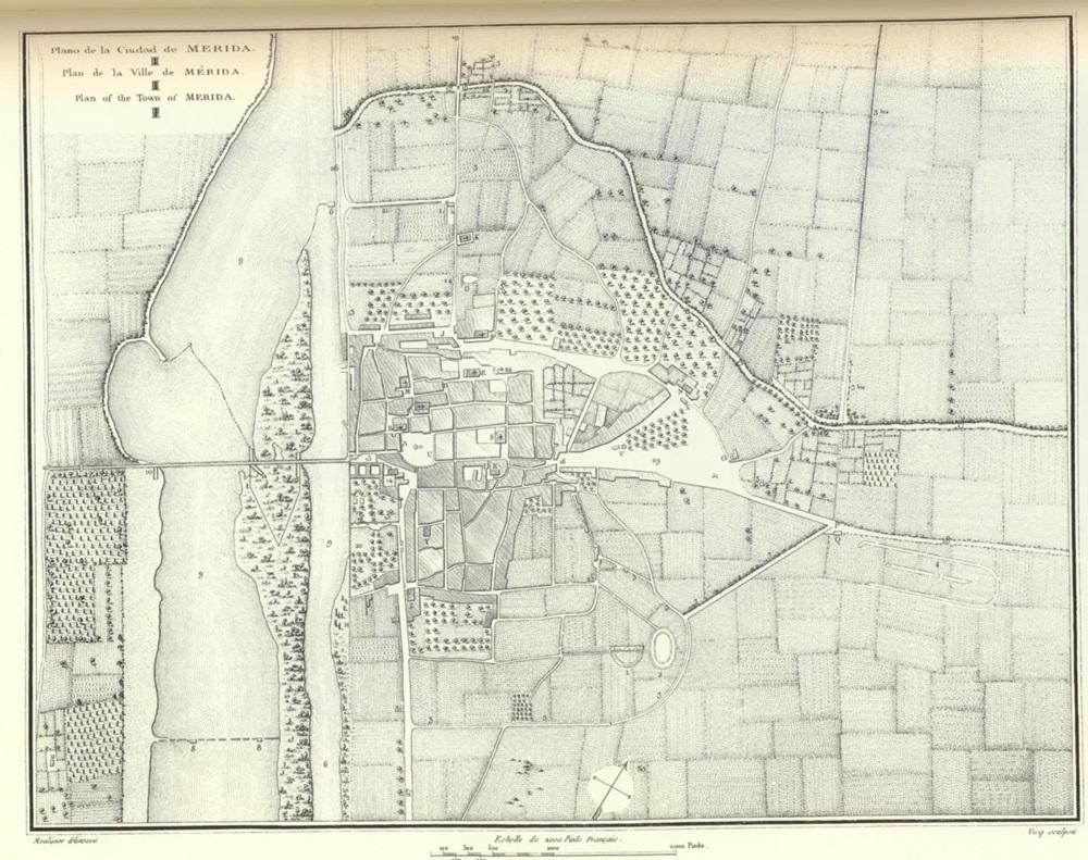 Plano de Mérida de Laborde (1806)