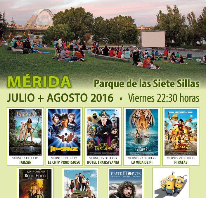 El parque de las VII Sillas proyecta un nuevo ciclo de cine al aire libre