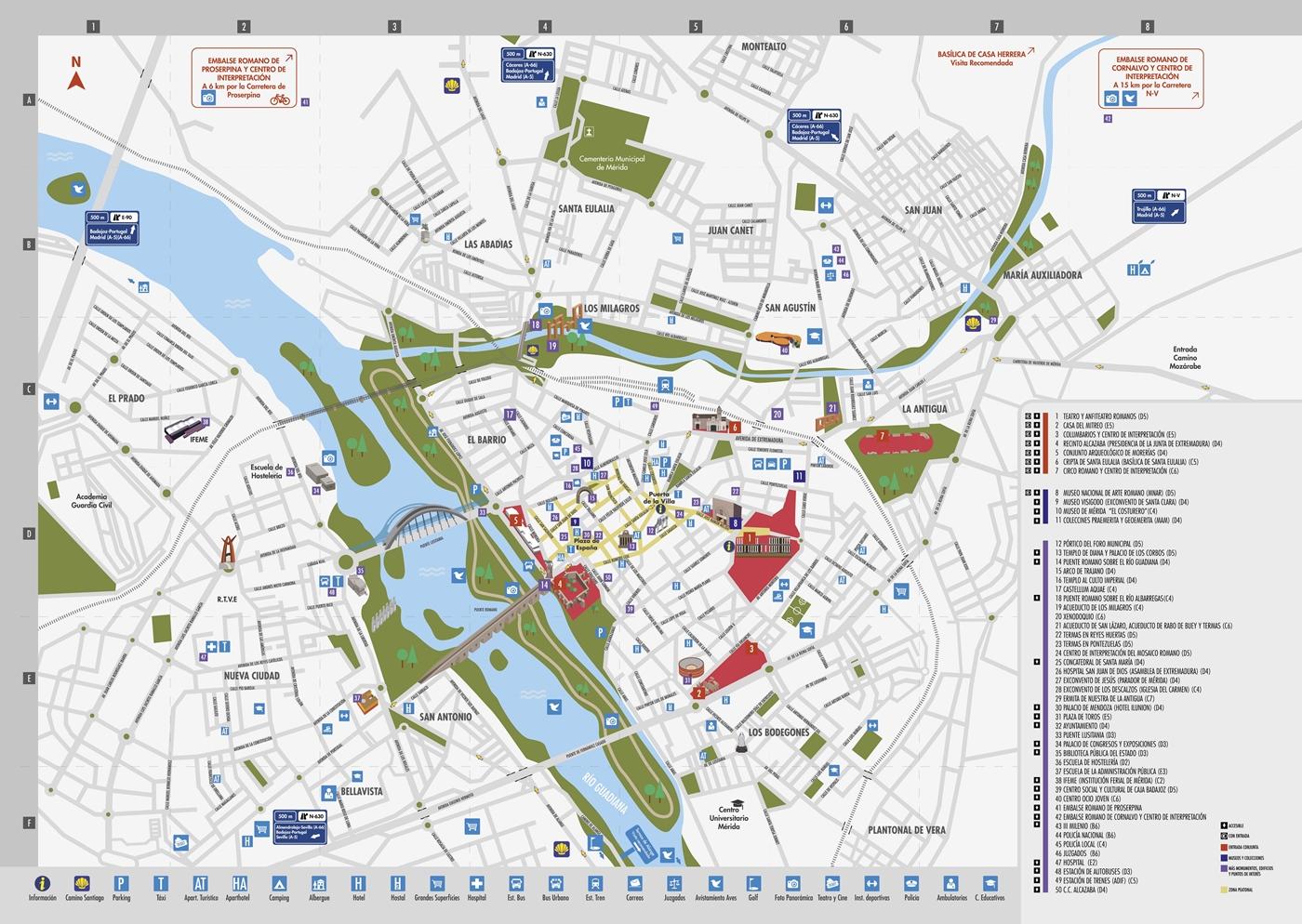 merida espanha mapa Mérida » El nuevo plano turístico está ya disponible en la oficina  merida espanha mapa