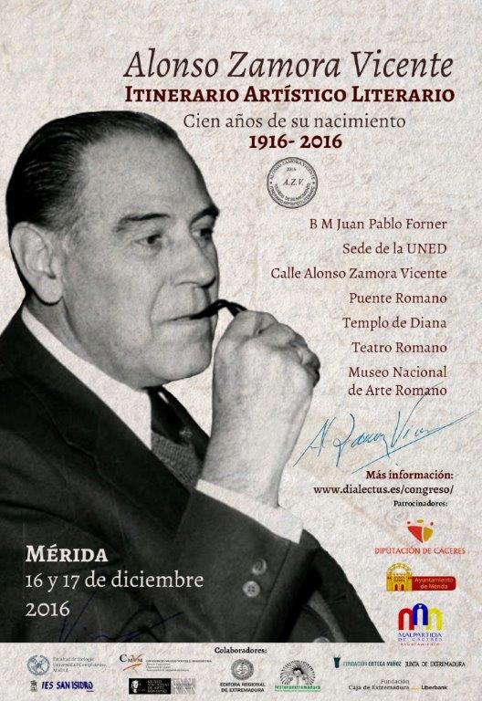 Cartel Alonso Zamora Vicente
