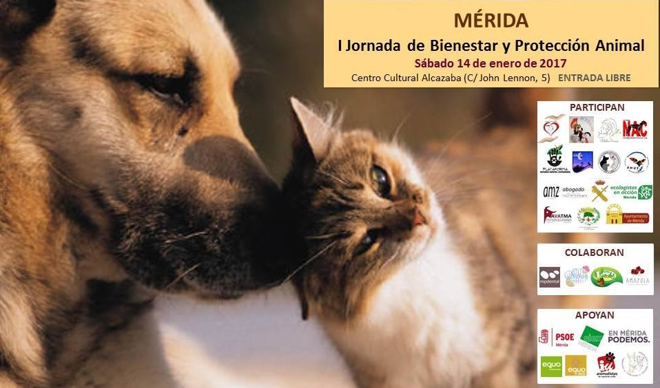 I Jornada de bienestar y protección animal de Mérida