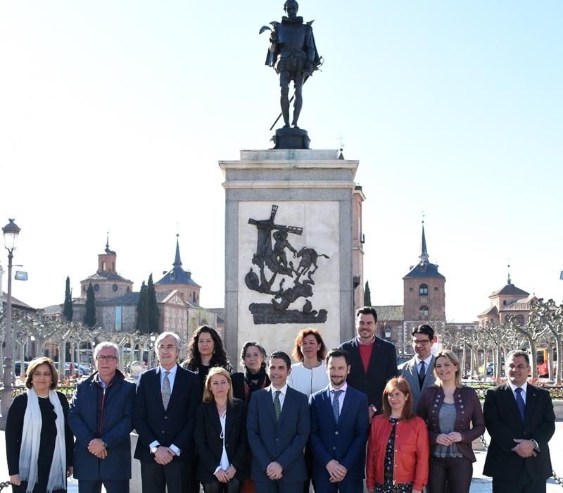 Alcaldes y concejales tras la asamblea de Alcalá