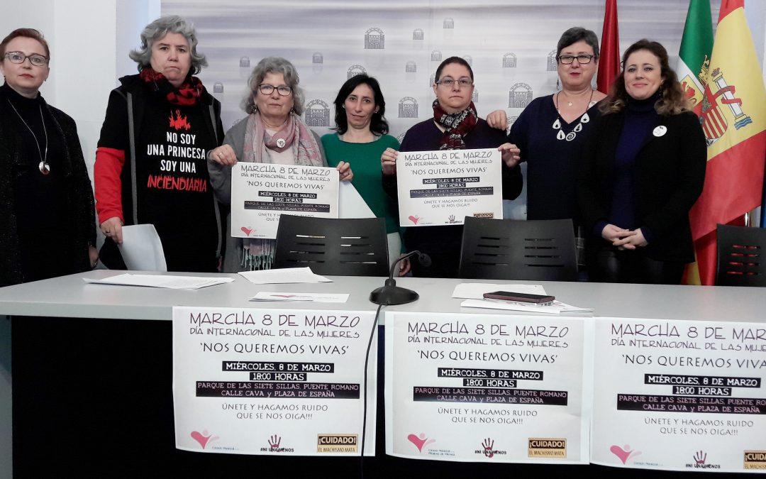 'Nos queremos vivas', lema del Consejo Municipal de las Mujeres ante la celebración del 8 de marzo