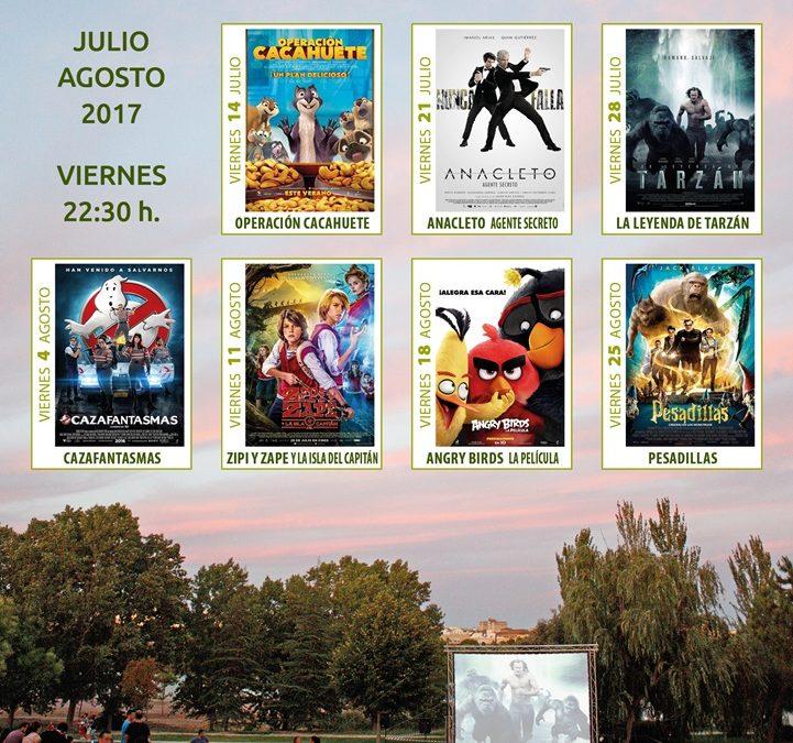 El XI Ciclo de cine al aire libre se celebrará  los viernes en el parque de Las Siete Sillas