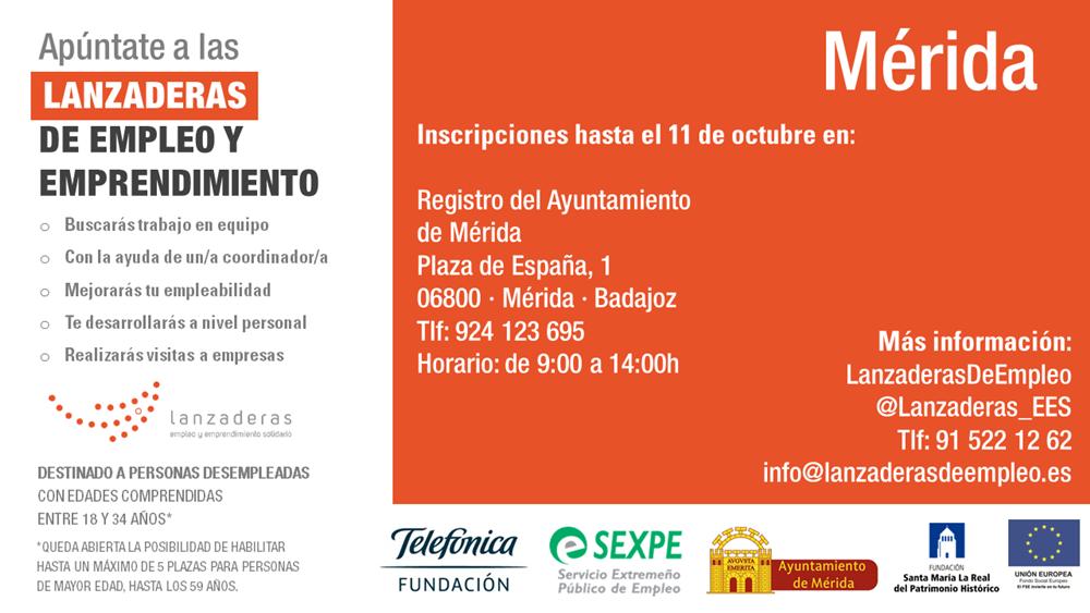 Mérida contará con una Lanzadera de Empleo para mejorar la inserción laboral de 20 personas