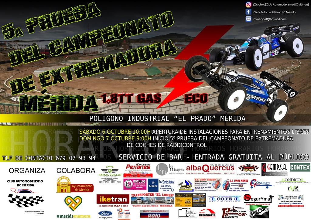Circuito Rc : Mérida próximos eventos » » 5ª prueba campeonato de extremadura