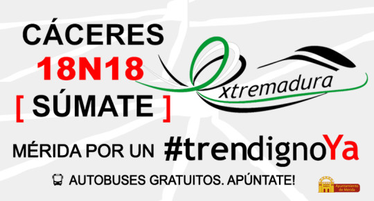 #TrenDignoYa Cáceres 18N18