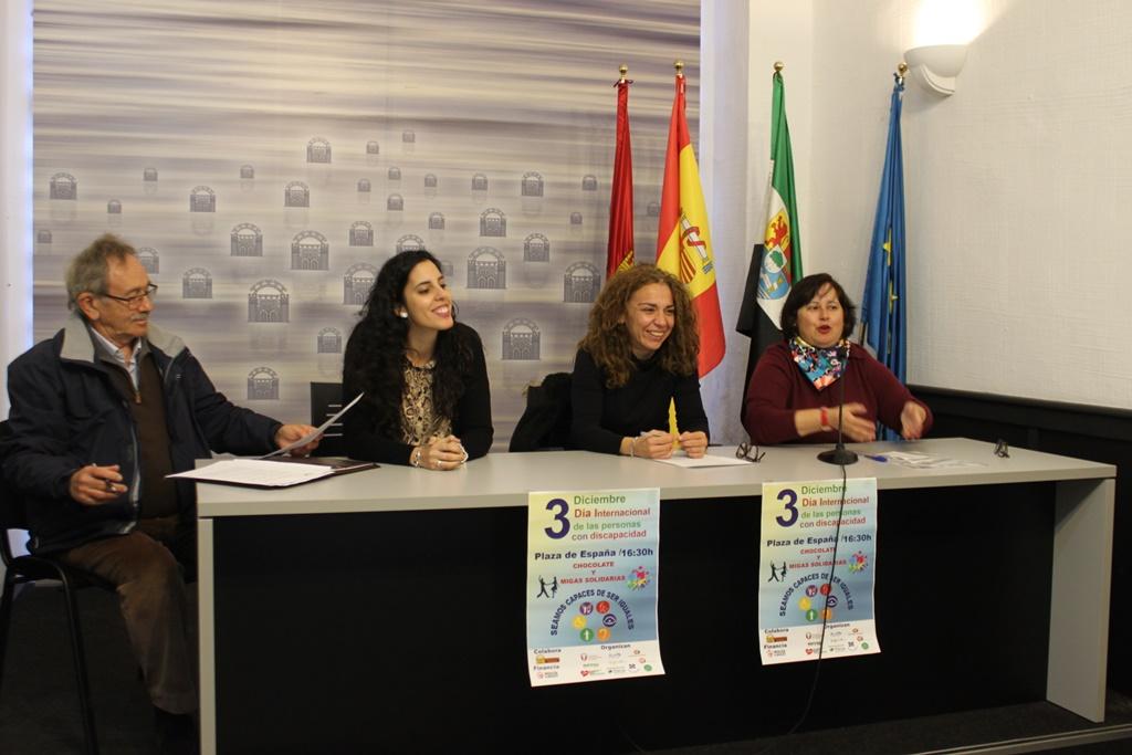La Plaza de España acogerá el próximo lunes los actos con motivo del Día Internacional de las personas con Discapacidad