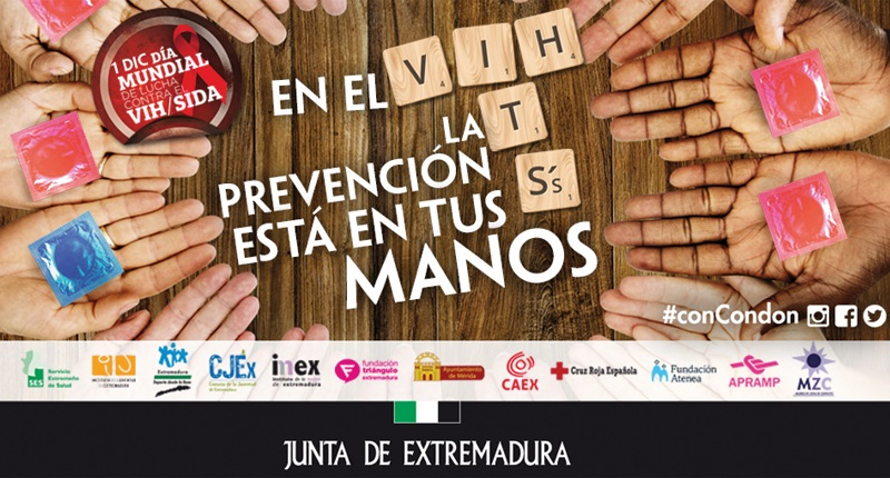 El Ayuntamiento colabora en actividades del Día Mundial contra el Sida con actos en la Plaza de España