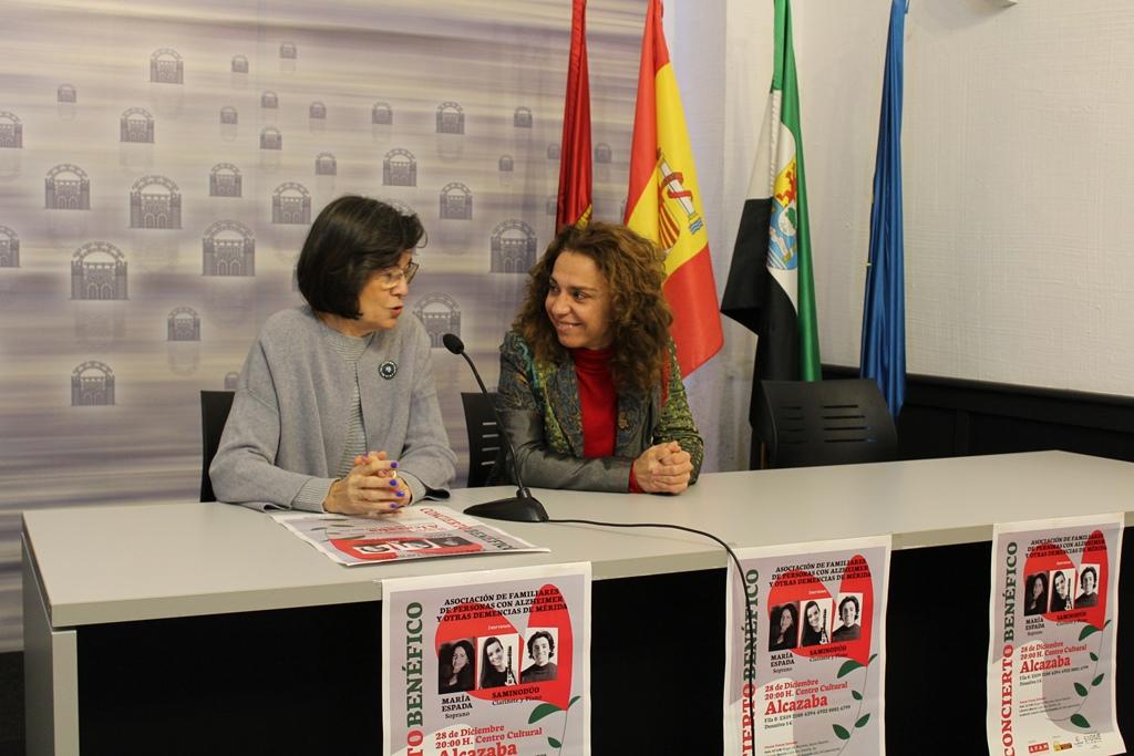 AFAM organiza un concierto solidario, el 28 de diciembre, con el Dúo Samino y María Espada