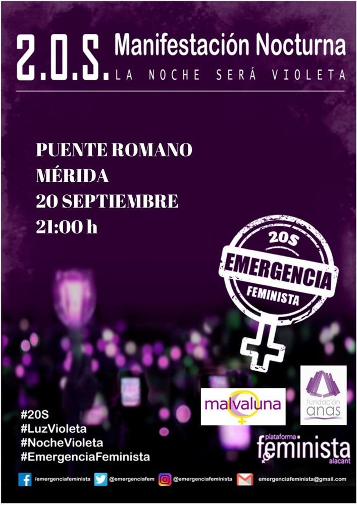 El ayuntamiento apoya concentración contra la Violencia Machista iluminando en color violeta la fachada del Consistorio y la fuente de la Plaza de España