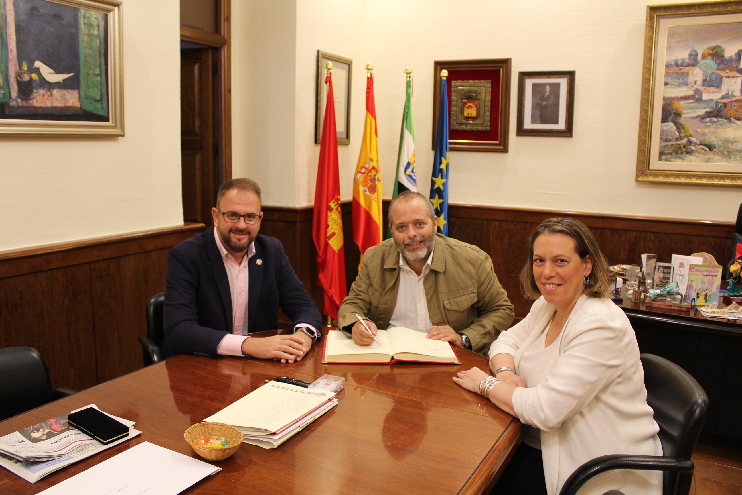 Visita de Rafa España al ayuntamiento