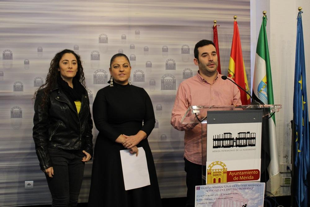 """Mérida acoge este sábado el III Trofeo Nacional de Patinaje Artístico """"Ciudad del Imperio Romano"""""""