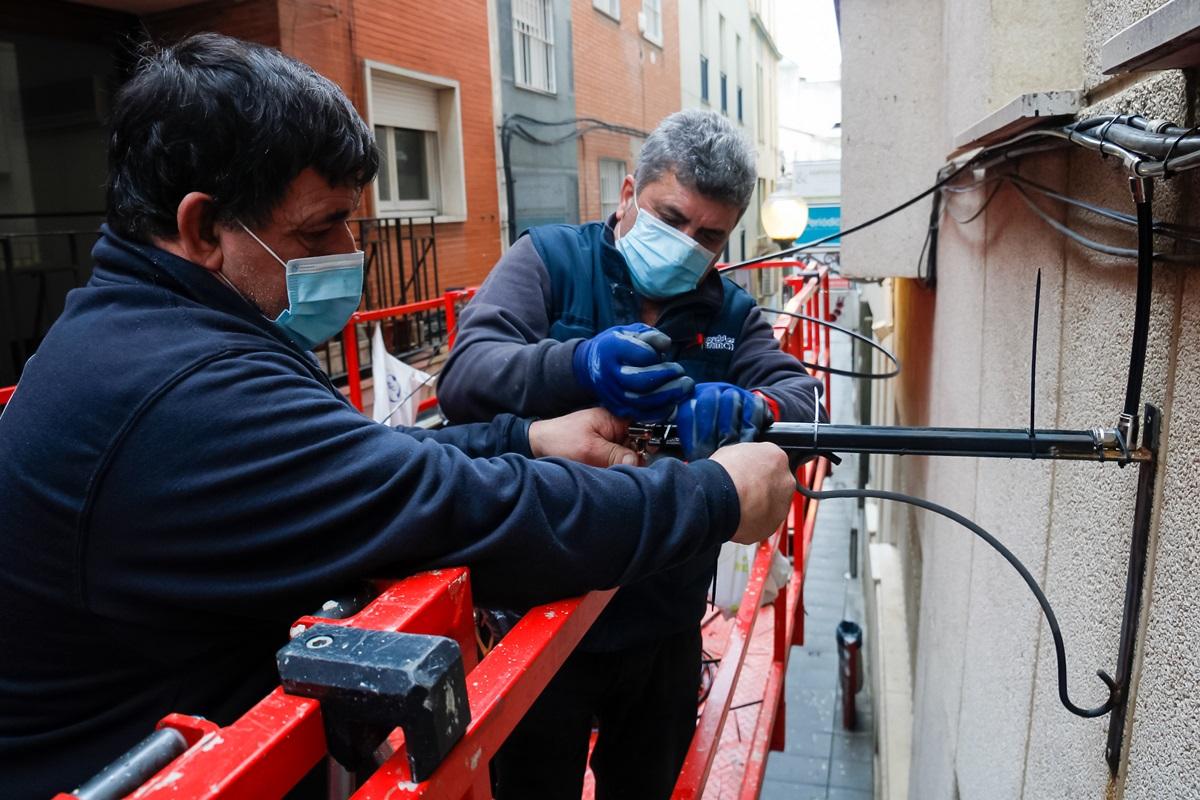 Trabajos de mejora del sistema de microclima en la calle Juan Pablo Forner