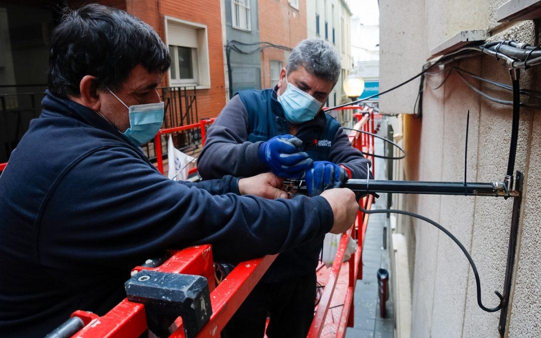 En marcha los trabajos de mejora y ampliación del microclima en las calles del centro