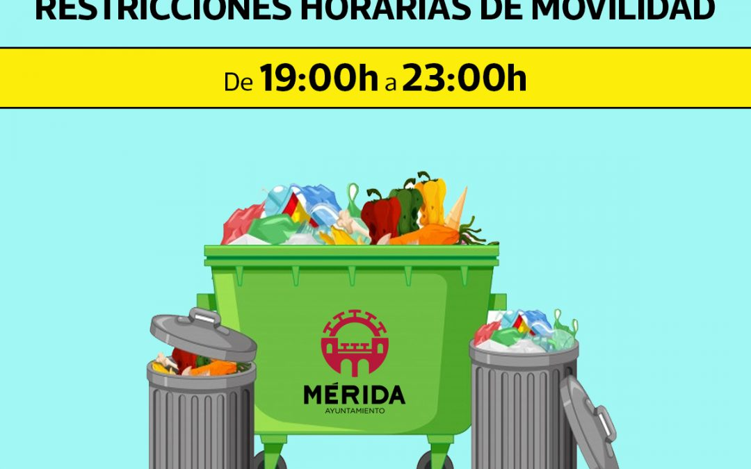 Limpieza recuerda que los residuos sólidos urbanos deben depositarse en los contenedores de 19 a 23 horas