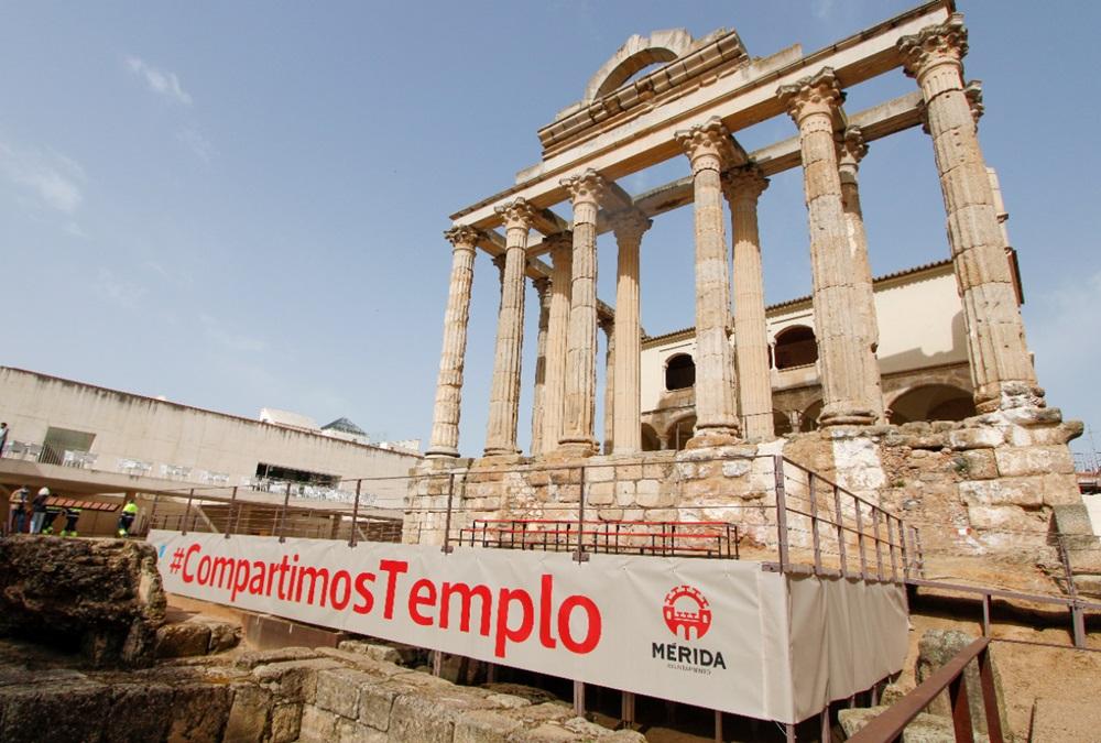 Mañana jueves comienza la programación #CompartimosTemplo en el Templo de Diana con motivo de la Semana Santa