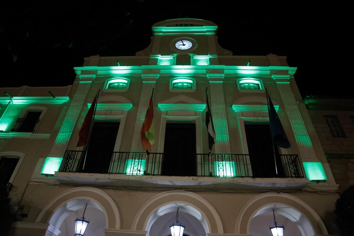 Fachada Ayuntamiento color verde