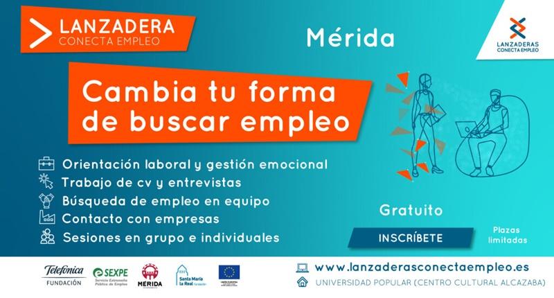 Últimos días para apuntarse a la Lanzadera Conecta Empleo de Mérida