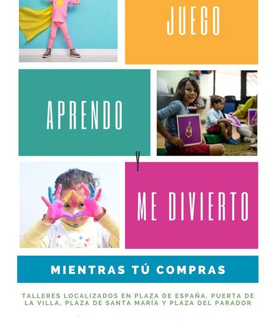 Actividades infantiles, esta tarde en el centro de la ciudad, del Plan de Dinamización para el Comercio