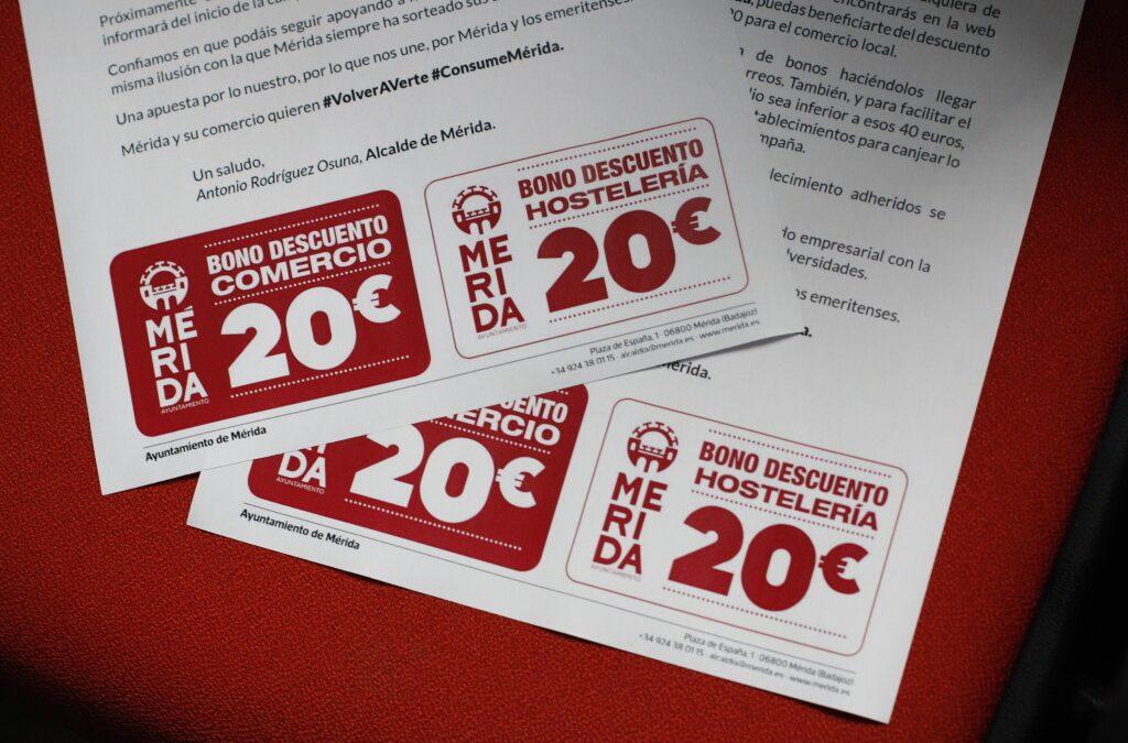 El alcalde de Mérida anuncia que 369 empresas de Mérida se beneficiarán de los bonos de consumo que comenzarán a canjearse el 7 de mayo
