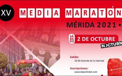 Restricciones de tráfico con motivo de la Media Maratón «Mérida, Patrimonio de la Humanidad»