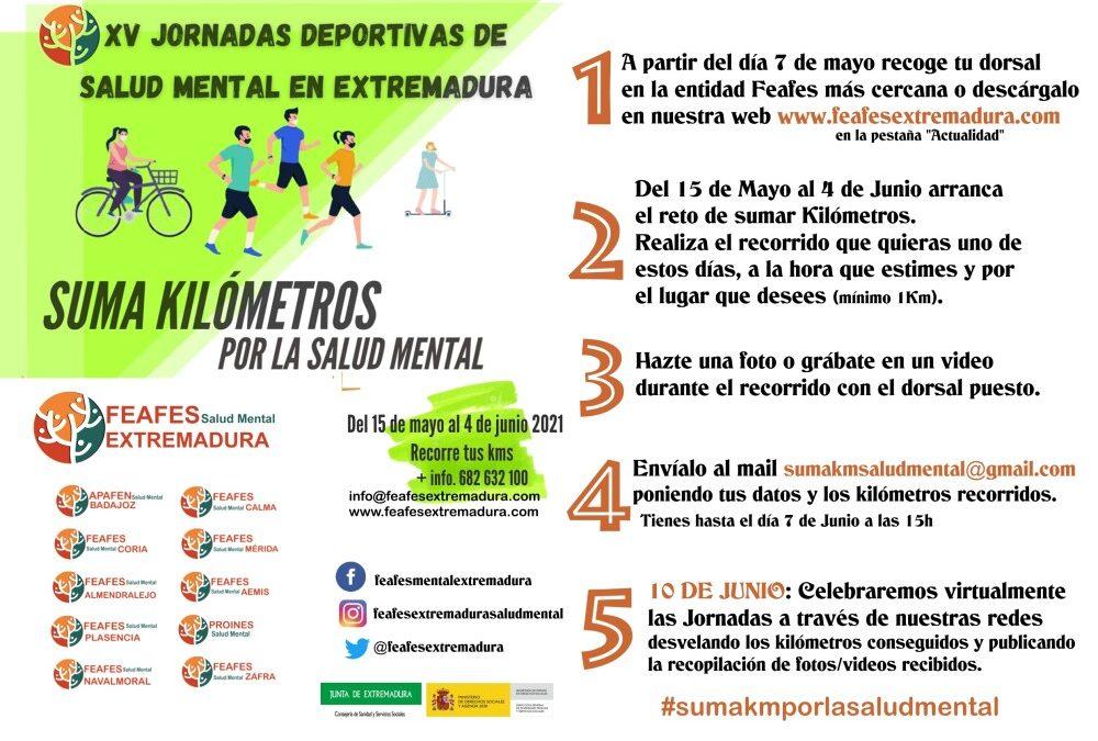 Feafes Salud Mental de Extremadura vuelve a convocar sus Jornadas Deportivas Regionales