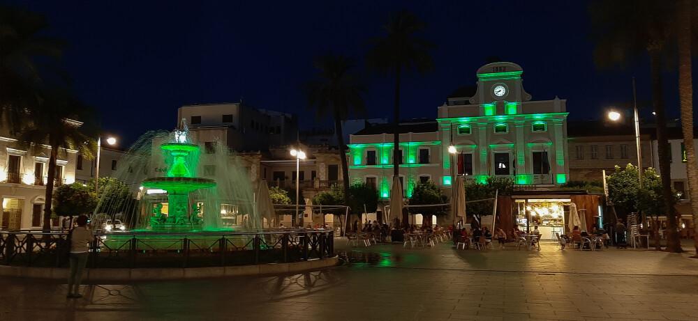 La fachada del Ayuntamiento, la fuente de la Plaza de España y varios monumentos se iluminan mañana de verde por el Día Nacional del Celiaco