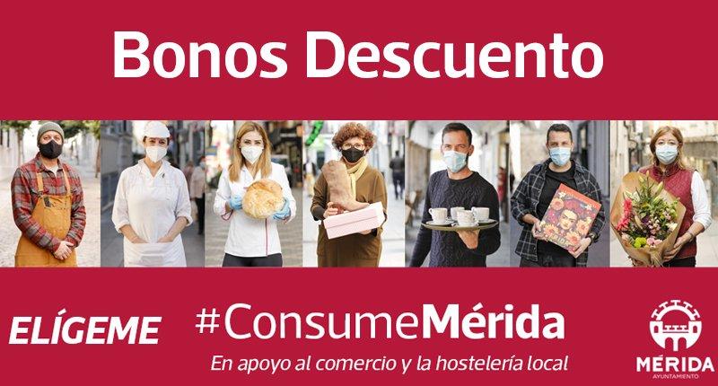 La campaña Consume Mérida sobrepasa los 24.400 bonos canjeados en los establecimientos de comercio y hostelería participantes