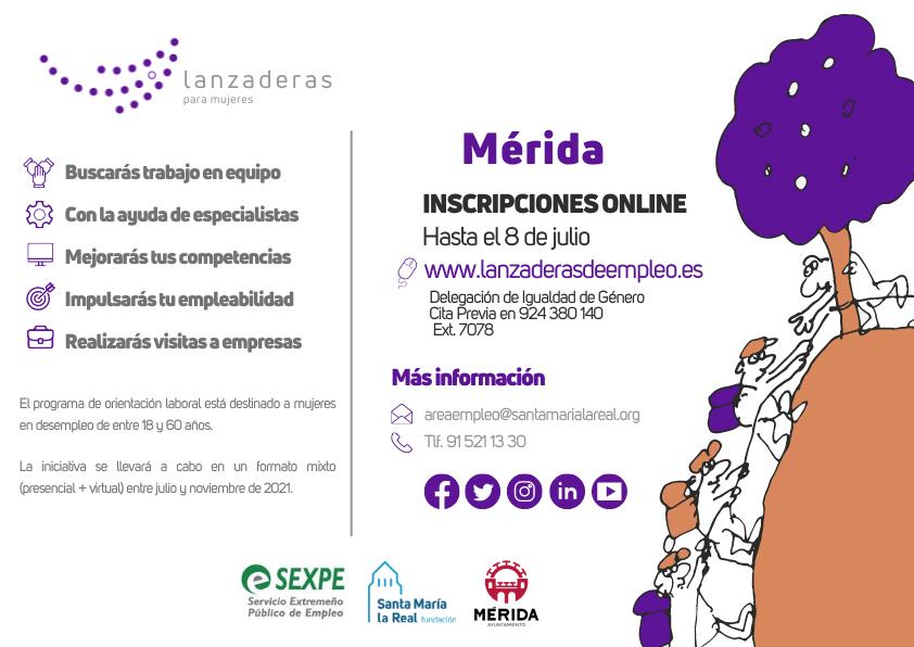 Mérida contará en julio con una nueva Lanzadera de Empleo para ayudar a 20 mujeres en desempleo a reforzar sus competencias digitales y reactivar su búsqueda de empleo