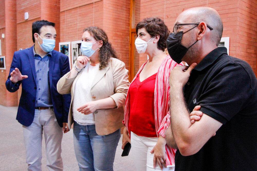 Gumiel, Yáñez, Fajardo y Farona visitan la expo