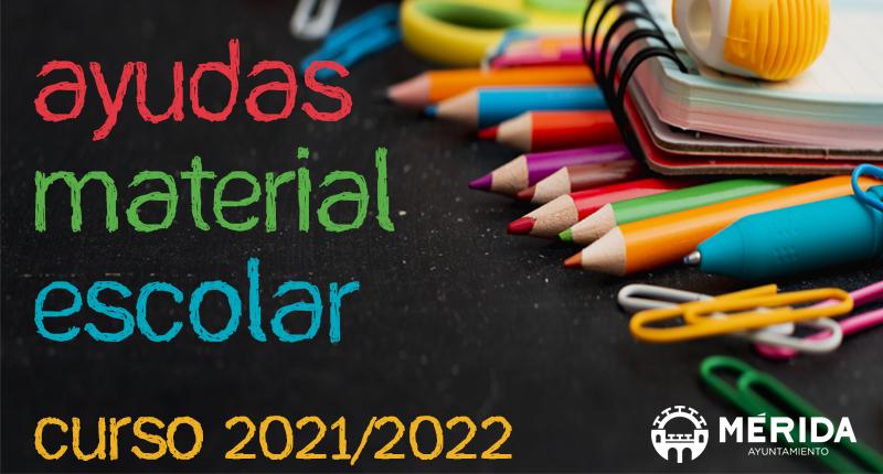 Se abre el plazo para las solicitudes de ayudas de material escolar para el curso 2021/2022
