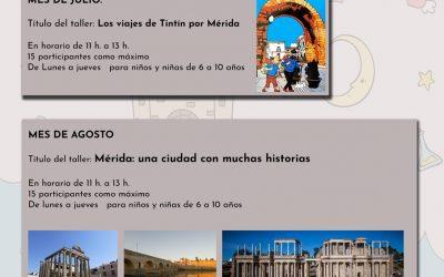 Disfrutar de Mérida a través de la lectura es el objetivo de las actividades infantiles de verano en las bibliotecas municipales