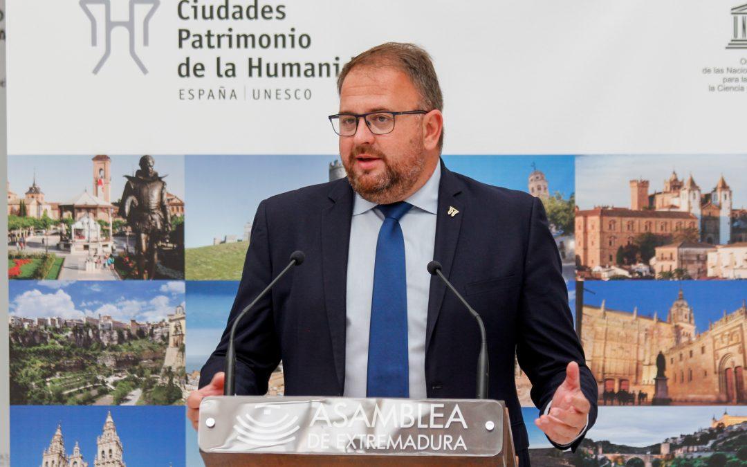 El Grupo de Ciudades Patrimonio de la Humanidad reclama al Gobierno una línea de asignación directa de los Fondos de Resilencia para los ayuntamientos