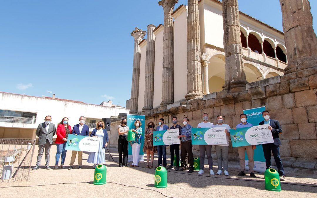 """Ecovidrio clausura su edición de """"Ecólatras Extremadura"""" con un acto en el Templo de Diana"""