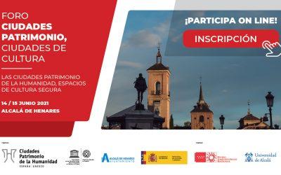 El alcalde y presidente del Grupo inaugurará el Foro Ciudades Patrimonio, Ciudades de Cultura que se celebra los días 14-15 de junio en Alcalá de Henares