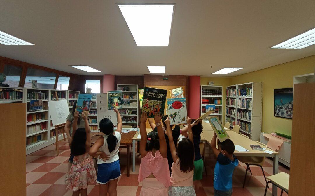 El taller Los viajes de Tintín por Mérida sigue desarrollándose en la Biblioteca Municipal