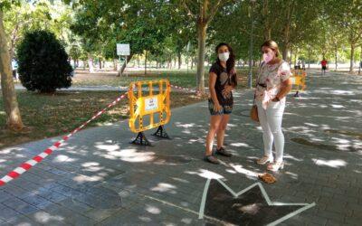 El parque de las VII Sillas acoge un circuito urbano de psicomotricidad para fomentar el juego al aire libre