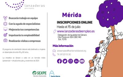 Ampliado el plazo de inscripción para la Lanzadera de Empleo de Mérida hasta el 15 de julio