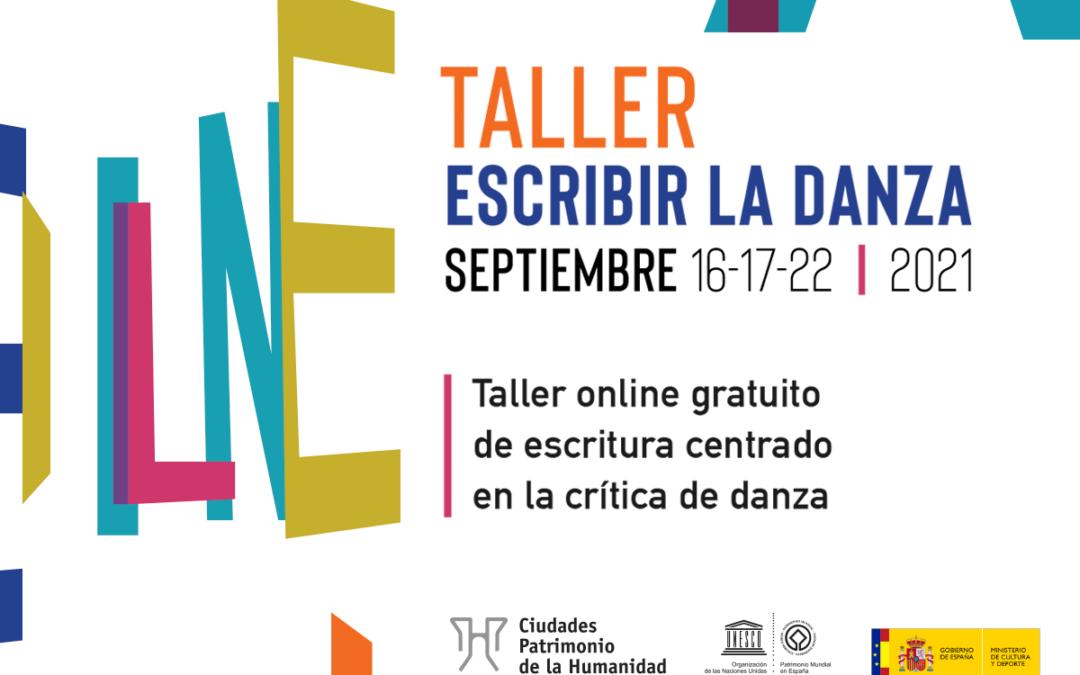 El taller 'Escribir la danza' permitirá conocer cómo elaborar una crítica periodística dentro de las actividades de La Noche del Patrimonio