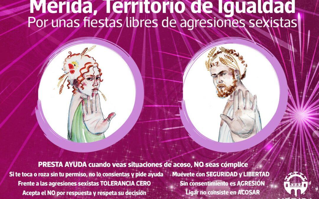 """La delegación de Igualdad instalará un punto violeta en la Feria dentro de la campaña """"Mérida, territorio de Igualdad"""""""