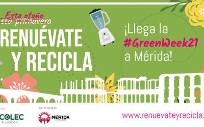 La Fundación ECOLEC celebra la quinta edición de la #GreenWeek21 en Mérida con el objetivo de seguir concienciando sobre la importancia del reciclaje de aparatos eléctricos y electrónicos