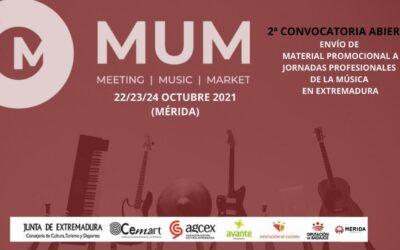 El Ayuntamiento colabora en las V Jornadas Profesionales de la Música en Extremadura que se celebrarán el 21 de octubre en la ciudad