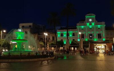 La fachada del Ayuntamiento, la fuente de la Plaza de España y varios monumentos se iluminan mañana en color verde por elDíaMundial del Alzheimer