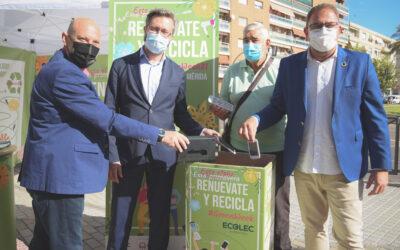 Mérida es la primera ciudad de Extremadura que celebra la 'Green Week' para concienciar sobre la importancia del reciclaje de aparatos eléctricos y electrónicos