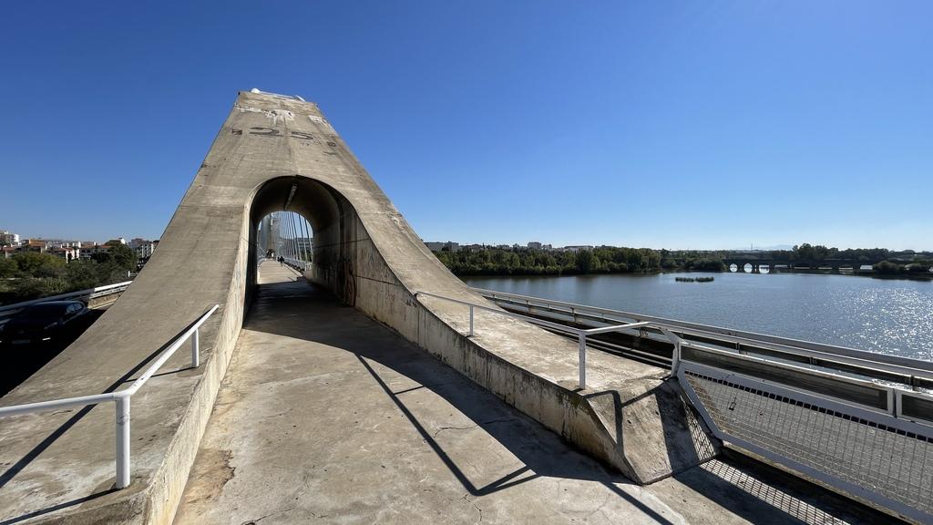 Mañana comienzan los trabajos de limpieza y mejora del Puente Lusitania